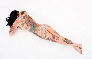 la modella più tatuata del mondo