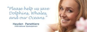 Hayden Panettiere salva le balene e i delfini