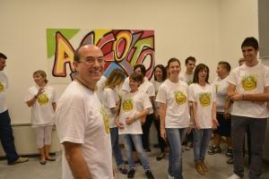 DAvide Giansoldati e il suo Yoga della risata alla Zeta Service